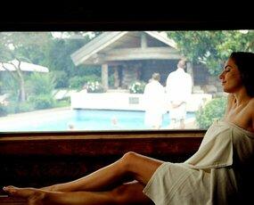 Hete droge panorama sauna